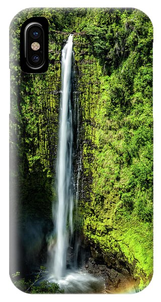 Akaka Falls With Rainbow IPhone Case