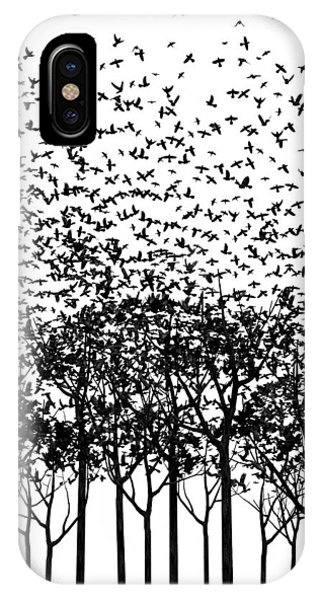 Starlings iPhone Case - Aki Monochrome by Cynthia Decker