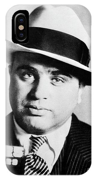 Whiskey iPhone Case - Al Capone Mugsot by Jon Neidert