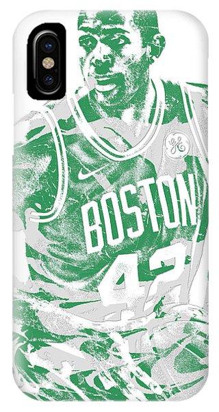 Celtics iPhone Case - Al Horford Boston Celtics Pixel Art 6 by Joe Hamilton
