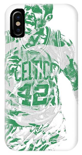 Celtics iPhone Case - Al Horford Boston Celtics Pixel Art 7 by Joe Hamilton
