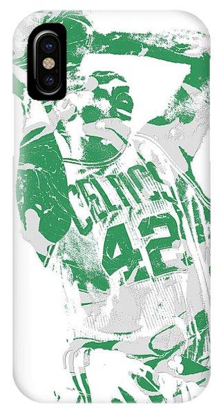 Celtics iPhone Case - Al Horford Boston Celtics Pixel Art 8 by Joe Hamilton