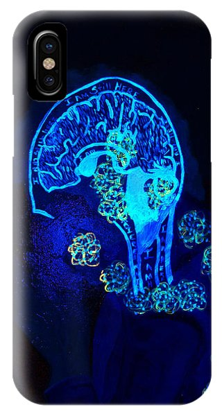 Al In The Mind Black Light View IPhone Case