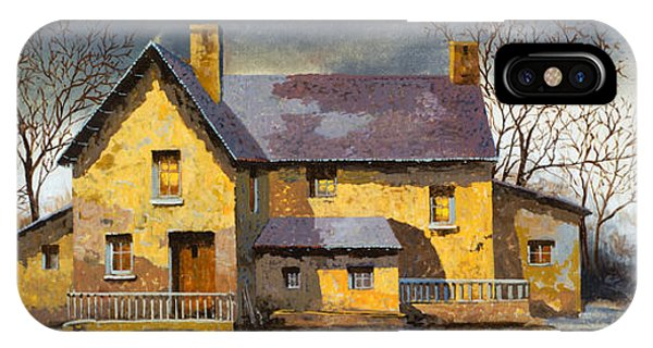 House iPhone Case - Al Mattino by Guido Borelli