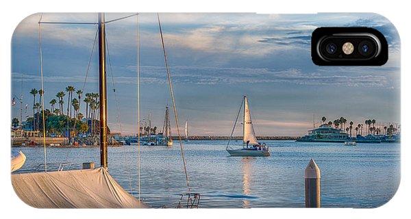 Alamitos Bay Inlet Sailboat IPhone Case