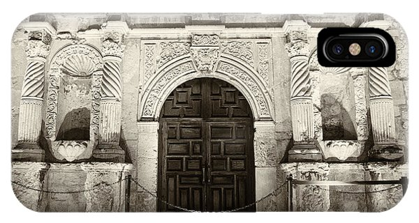 The Alamo iPhone Case - Alamo Entrance by Stephen Stookey