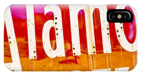 The Alamo iPhone Case - Alamo Hotel Sign Abstract by Stephen Stookey