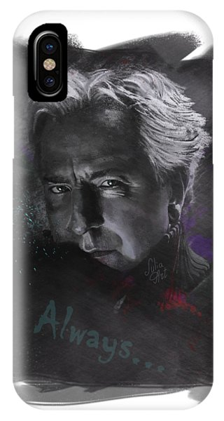 IPhone Case featuring the drawing Alan Rickman by Julia Art