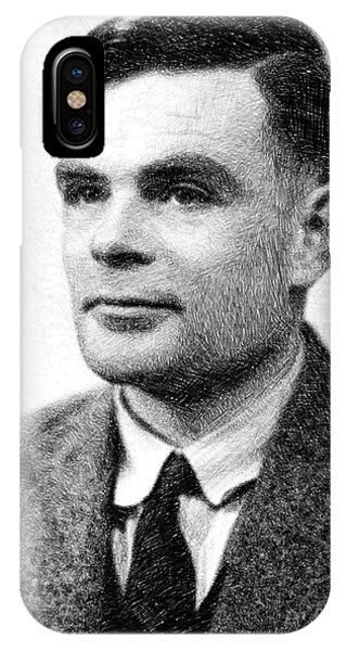 Prime Minister iPhone Case - Alan Turing, Mathematical Genius By Js by John Springfield