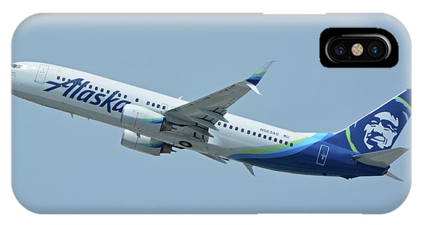 Alaska Boeing 737-890 N563as Los Angeles International Airport May 3 2016 IPhone Case