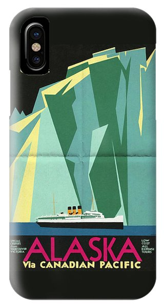 Alaska Canadian Pacific - Vintage Poster Folded IPhone Case