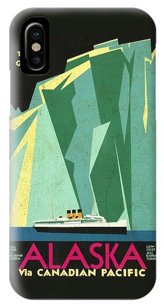 Alaska Canadian Pacific - Vintage Poster Vintagelized IPhone Case