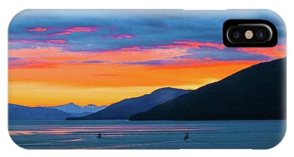 Alaska Fishermans Sunset IPhone Case