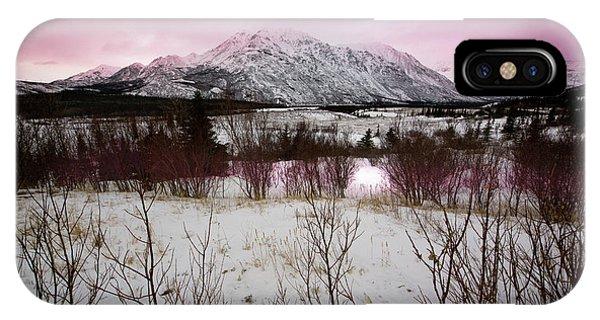 Alaska Range Pink Sky IPhone Case