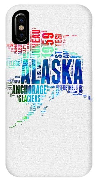 Alaska Watercolor Word Cloud  IPhone Case