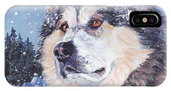 Sled Dog iPhone Case - Alaskan Malamute by Lee Ann Shepard