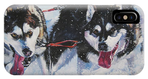 Sled Dog iPhone Case - Alaskan Malamute Strong And Steady by Lee Ann Shepard