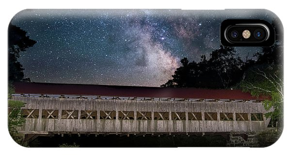 Albany Covered Bridge Under The Milky Way IPhone Case