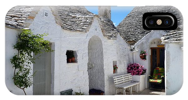 Alberobello Courtyard With Trulli IPhone Case