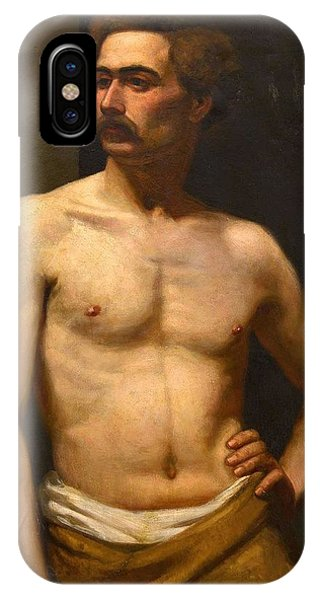 Albert Edelfelt Male Model IPhone Case