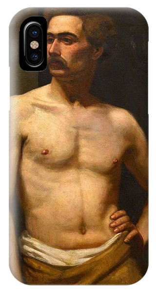 Albert Edelfelt Male Model IPhone Case