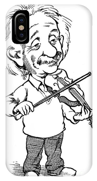 Violin iPhone X Case - Albert Einstein (1879-1955) by Granger