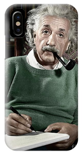 Portraits iPhone X Case - Albert Einstein by Granger