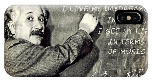 Albert Einstein, Physicist Who Loved Music IPhone Case