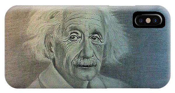 Albert Einstein Portrait IPhone Case
