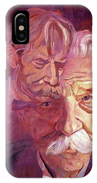 Nobel iPhone Case - Albert Schweitzer Portrait by David Lloyd Glover