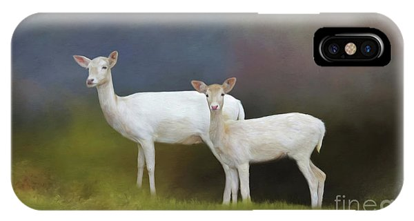 Albino Deer IPhone Case