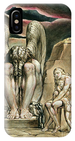 Albion's Angel, Frontispiece To America, A Prophecy, Circa 1821 IPhone Case