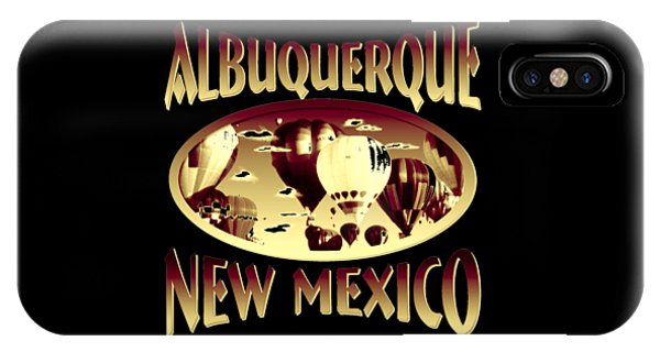 Sports Clothing iPhone Case - Albuquerque New Mexico Design by Peter Potter