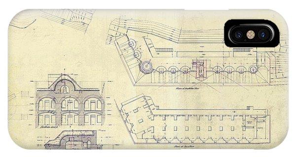 Alcatraz  Bomb Proof Barracks Drawing 1865   IPhone Case
