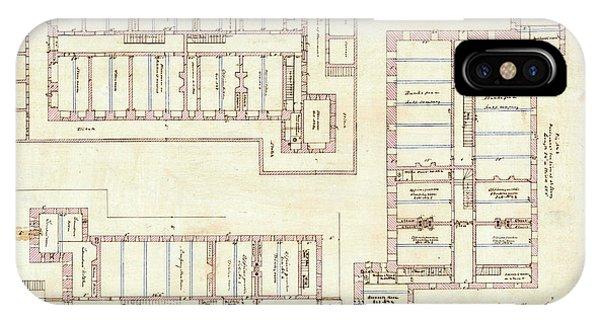 Alcatraz Citadel Drawing 1857 IPhone Case