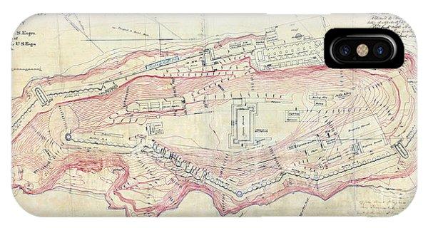 Alcatraz Island Map Circa 1867 IPhone Case