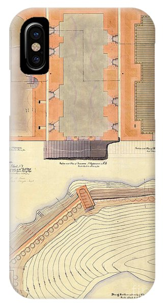 Alcatraz North Battery Drawing1856   IPhone Case