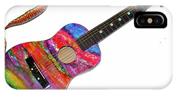 Alcohol Ink Guitar IPhone Case