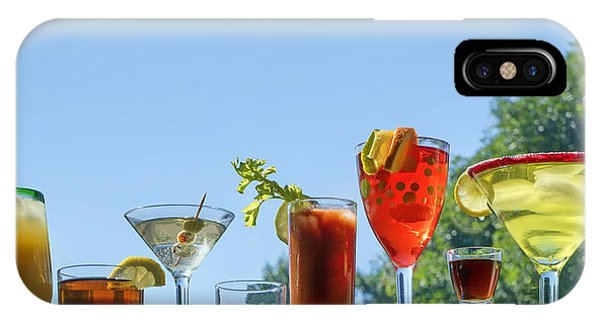 Bloody Mary iPhone Case - Alcoholic Beverages - Outdoor Bar by Nikolyn McDonald