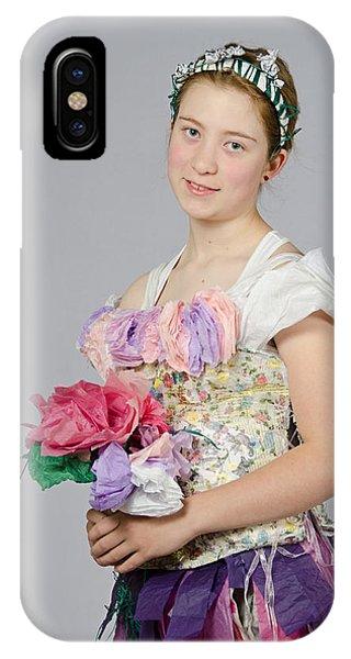 Alegra In Paper Floral Dress IPhone Case