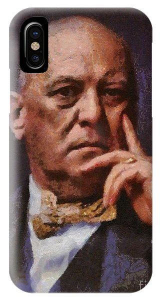 Aztec iPhone Case - Aleister Crowley, Infamous Occultist by Mary Bassett