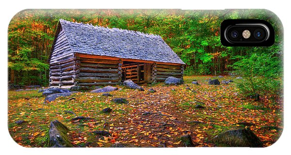 Alex Cole Cabin At Jim Bales Place, Roaring Fork Motor Trail In The Smoky Mountains Tennessee IPhone Case