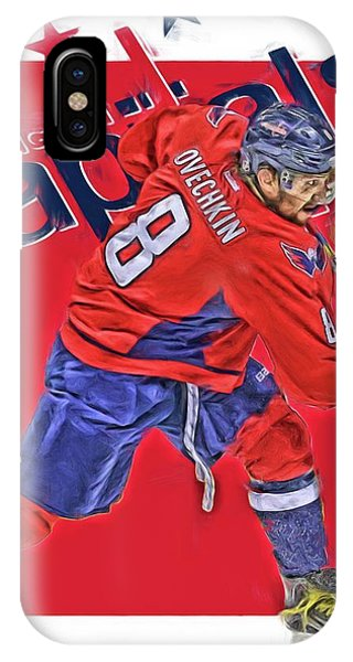 Winter iPhone Case - Alex Ovechkin Washington Capitals Oil Art by Joe Hamilton
