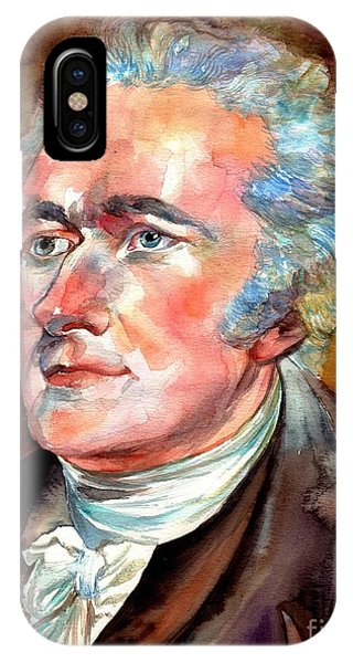 New Jersey iPhone Case - Alexander Hamilton Watercolor by Suzann's Art