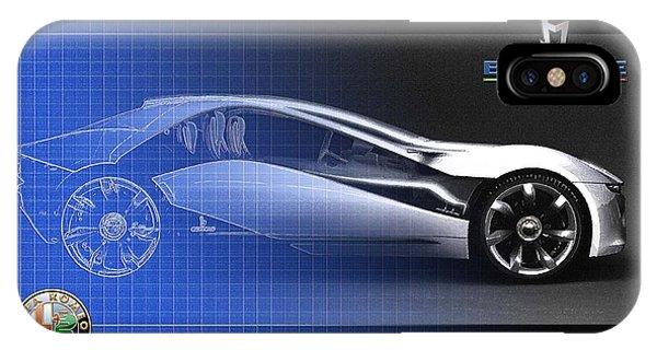 Artwork iPhone Case - Alfa Romeo Bertone Pandion Concept by Serge Averbukh