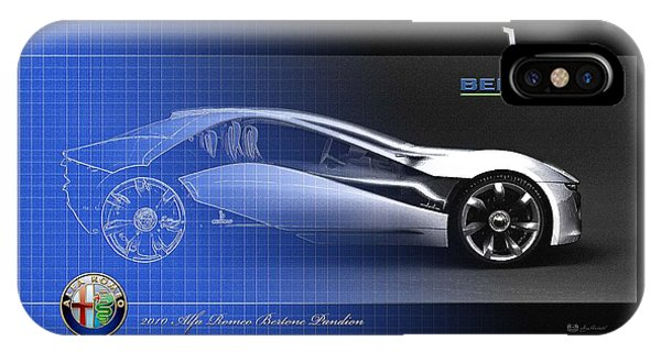 Sports iPhone Case - Alfa Romeo Bertone Pandion Concept by Serge Averbukh