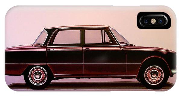 Oldtimer iPhone Case - Alfa Romeo Giulia Super 1967 Painting by Paul Meijering
