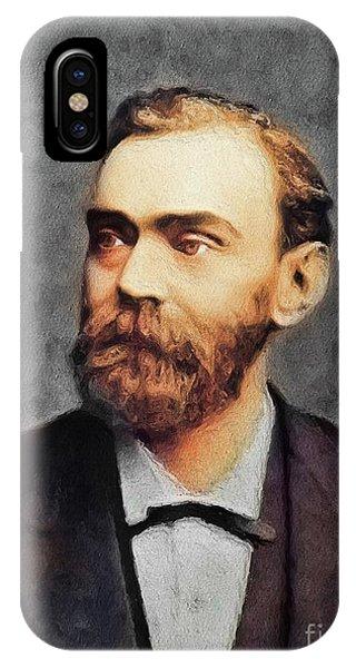 Nobel iPhone Case - Alfred Nobel, Famous Scientist by John Springfield