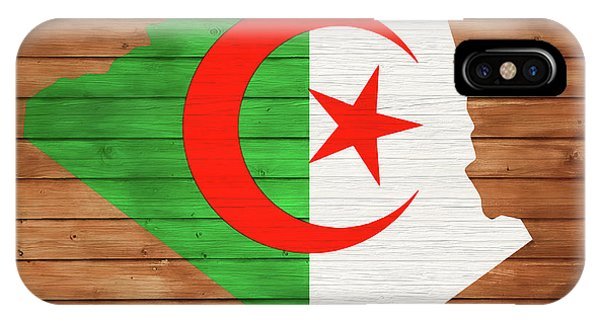 Traveler iPhone Case - Algeria Rustic Map On Wood by Dan Sproul