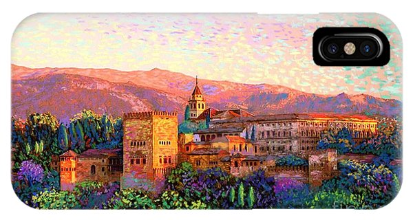 Evening iPhone Case - Alhambra, Grenada, Spain by Jane Small